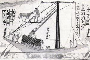 imagem de barco egípcio