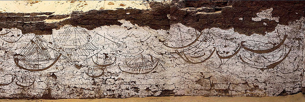 imagem do interior de um edifício em Abydos