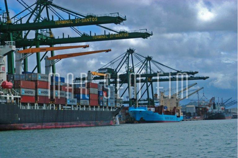 Portos privados, imagem do porto de Santos