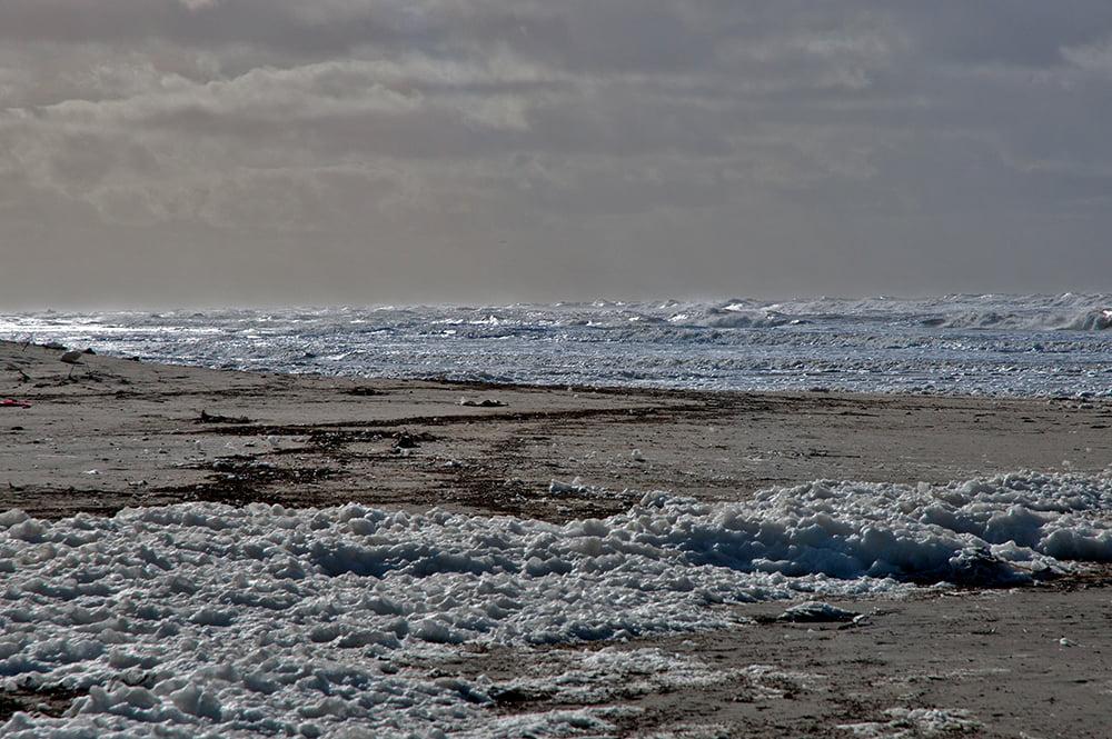 Viagens do Mar Sem Fim em fotos, imagem do mar do Chuí, RS
