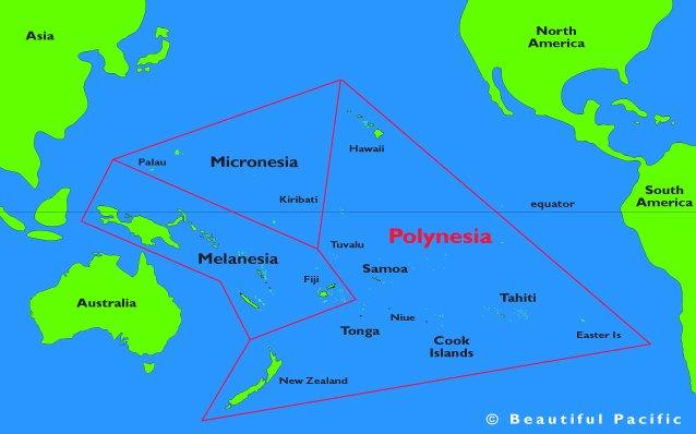 Projeto Vaka Taumako, imagem de mapa da polinésia-