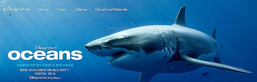 Oceanos, by Disney, imagem de tubarão
