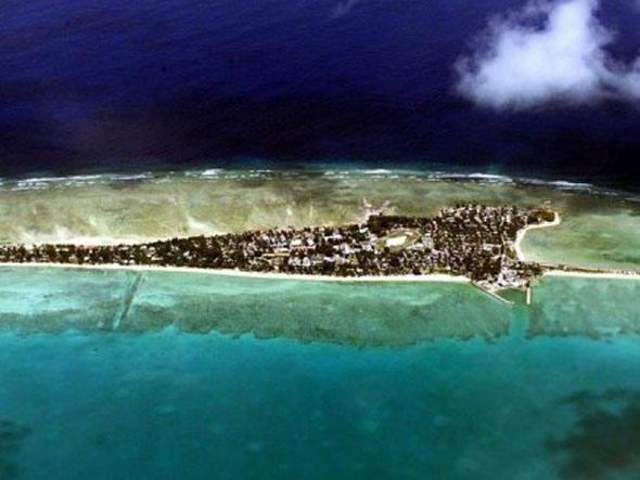 Dez lugares que podem sumir no mar, imagem de kiribati