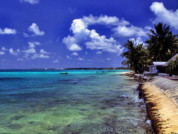 Dez lugares que podem sumir no mar, imagem de tuvalu