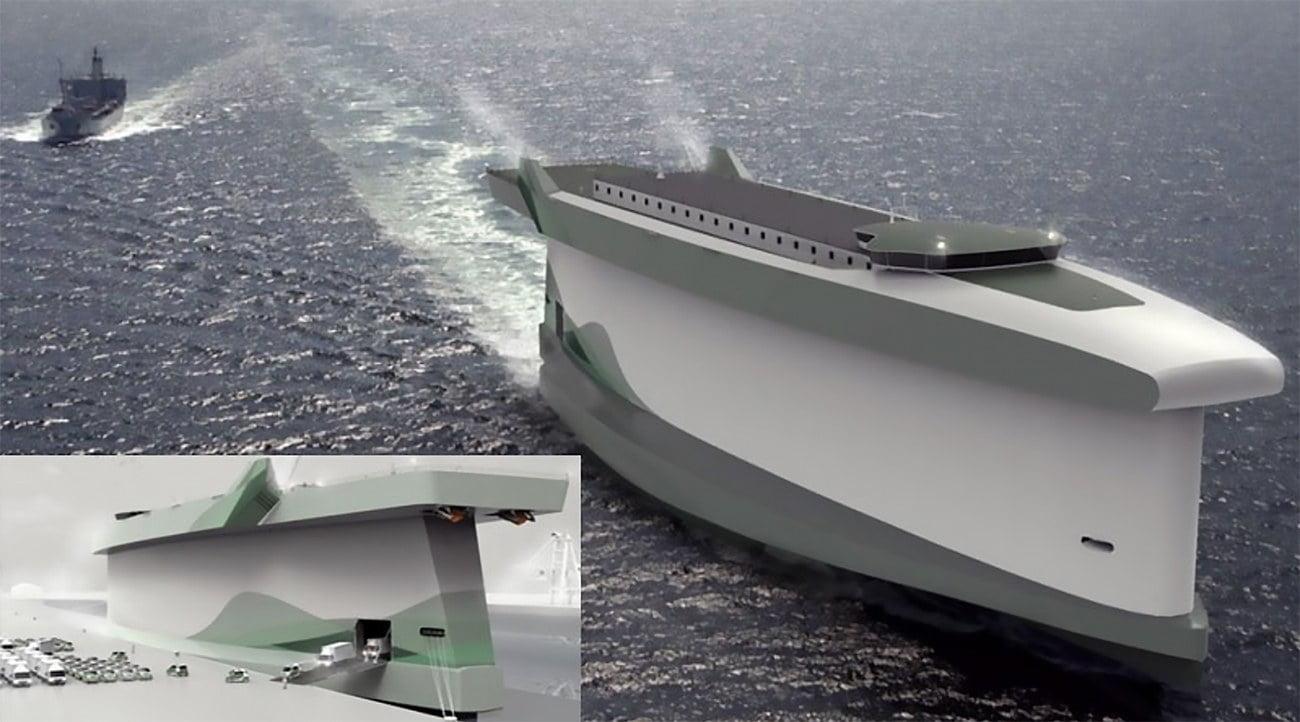 imagem do Vindskip, navio autosustentável