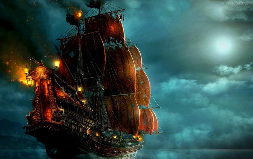Animação para quem gosta de navios antigos, imagem de navio antigo à vela
