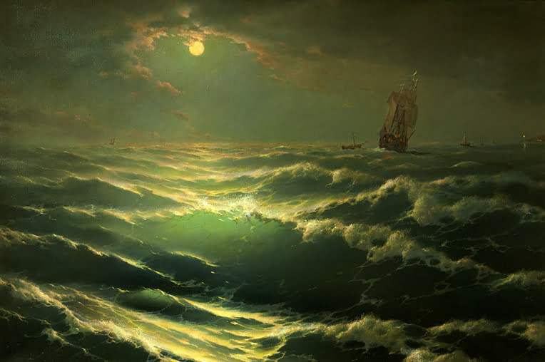 Animação com pinturas do russo George Dmitriev, tela do pintor George Dmitriev