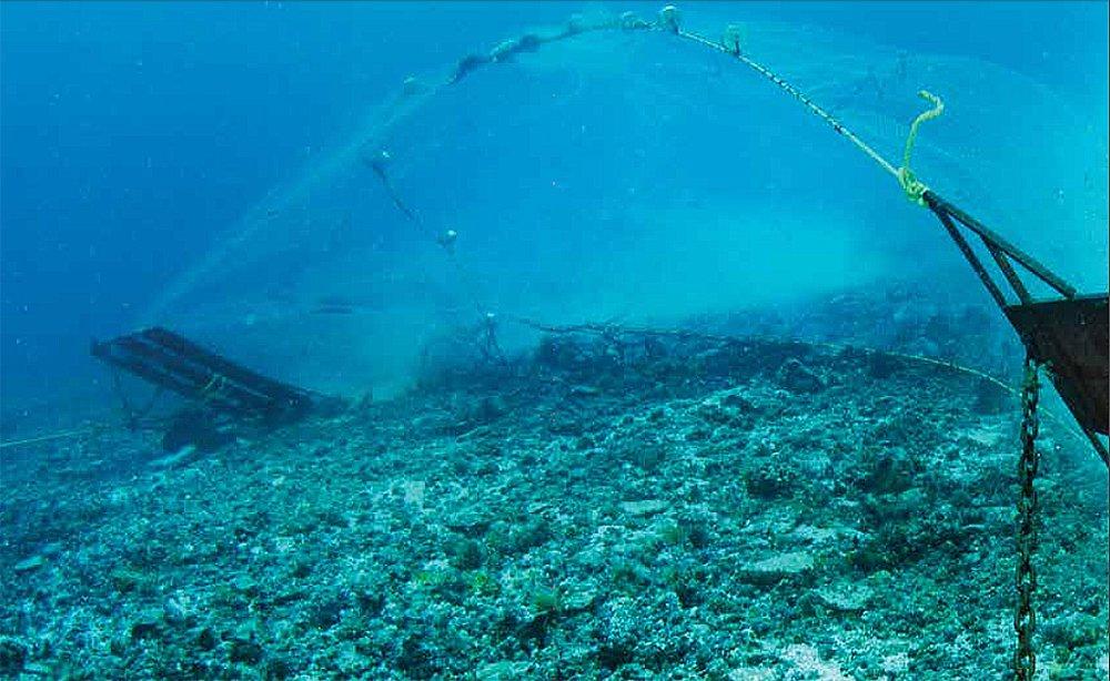 imagem de pesca de arrasto de fundo