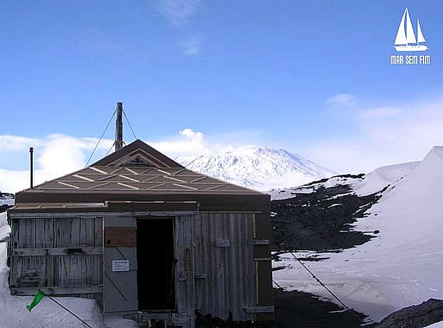 imagem da cabana de Ernest Shackleton.