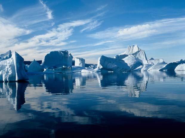Banco Mundial pede redução de emissões , imagem de geleira da groenlândia