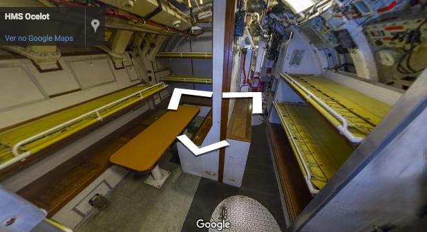 Submarino HMS Ocelot, imagem do interior do Submarino HMS Ocelot