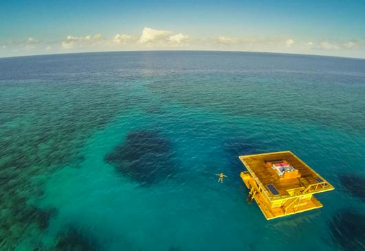 Um hotel debaixo da água, imagem de hotel debaixo d'água