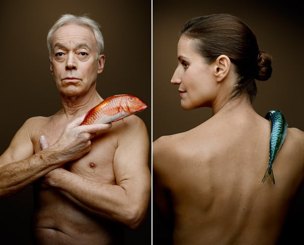 Contra pesca de arrasto em alto-mar, imagem de Nickolas Grace e cantora e atriz Joanna Bergin