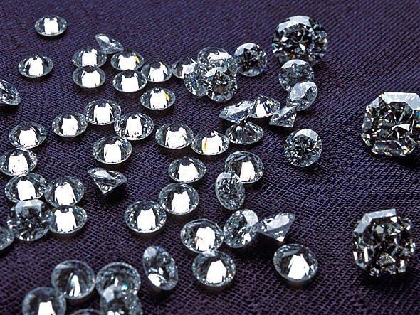 Antártica e diamantes, imagem de diamantes lapidados