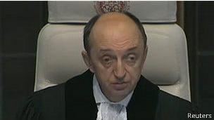 Corte de Haia: fim a disputa entre Chile e Peru, imagem do chefe da corte de Haia