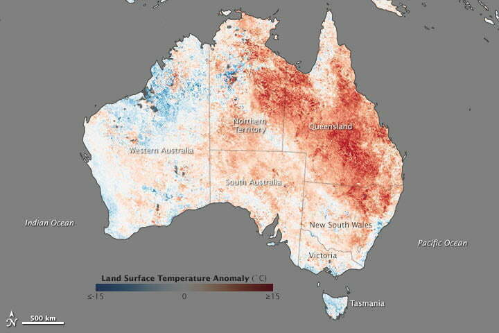 o calor-europa, mapa mostrando o calor-australia