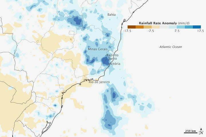 Calor e frio extremos, mapa mostrando as chuvas no Brasil