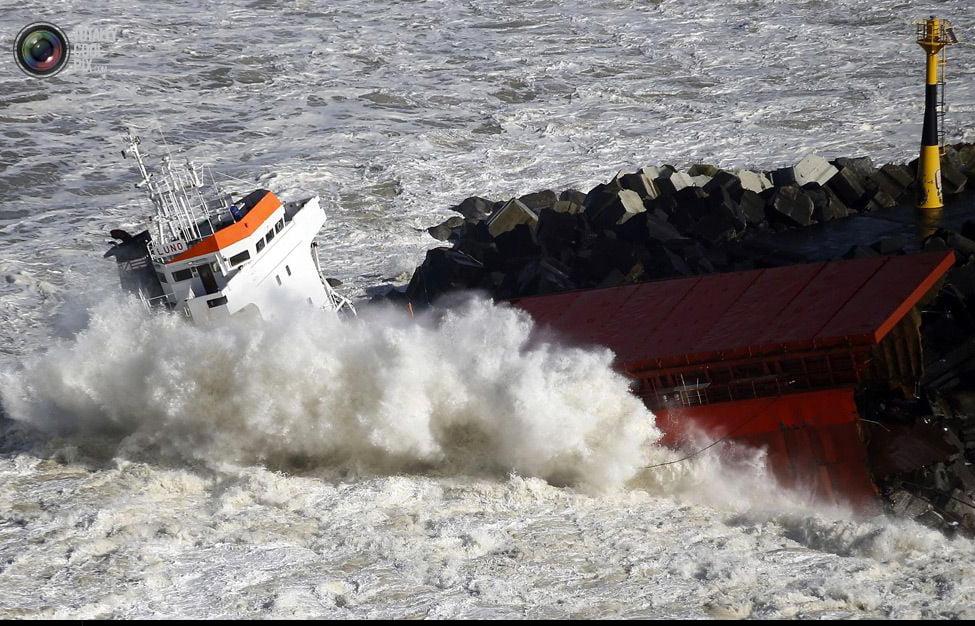 Navio mercante espanhol , imagem de mais uma parte do Navio mercante espanhol