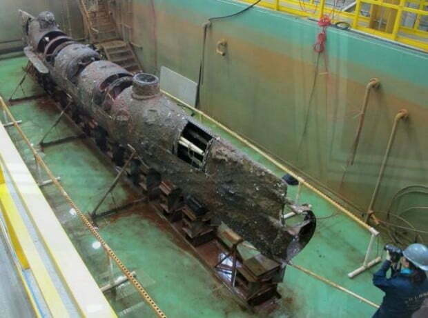 Navio e submarino da Guerra Civil Americana, Foto do submarino Hunley da Guerra Civil Americana
