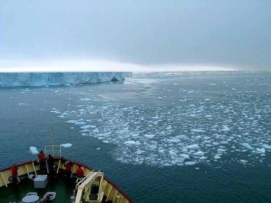 Estação sem gelo no Ártico está mais longa, foto do Ártico