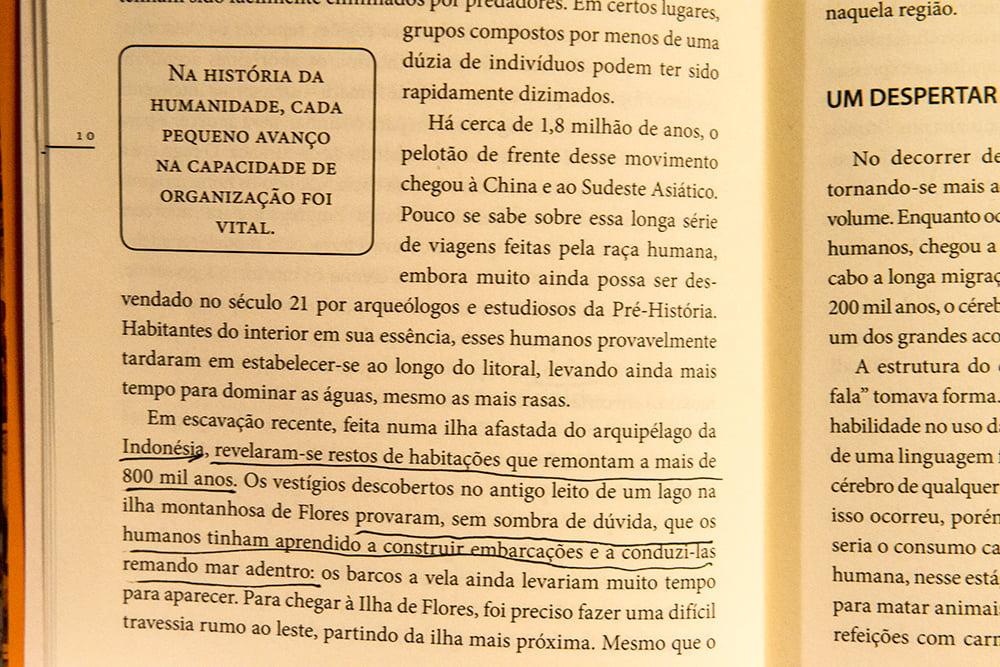 imagem de página do livro Breve História do Mundo