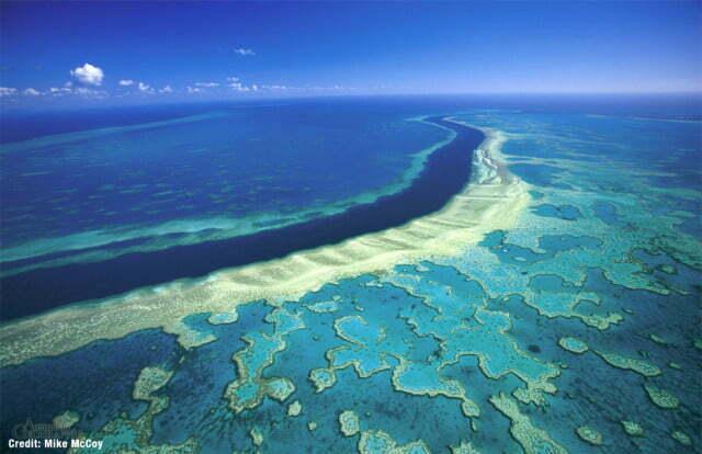 Grande barreira de corais Australiana - lugares fantásticos