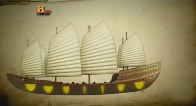 China potência marítima, Desenho dos navios da china potência marítima do século XV.