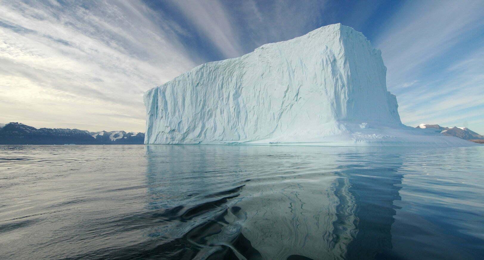 iceberg que se desprendeu
