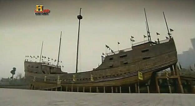 China potência marítima do século XV, imagem de Réplica dos navios chineses do sec 15