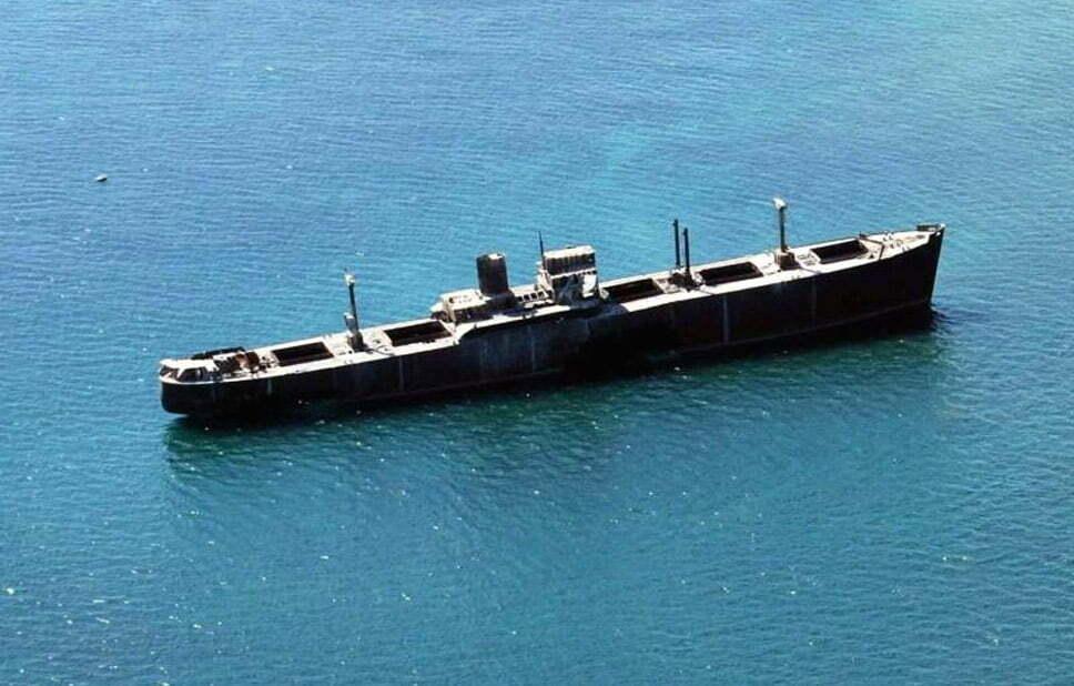 Doze navios naufragados, imagem do navio naufragado evangelia