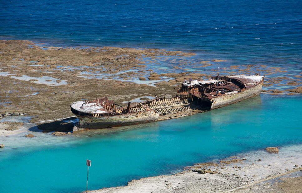 Doze navios naufragados, imagem do navio naufragado HMAS Protector