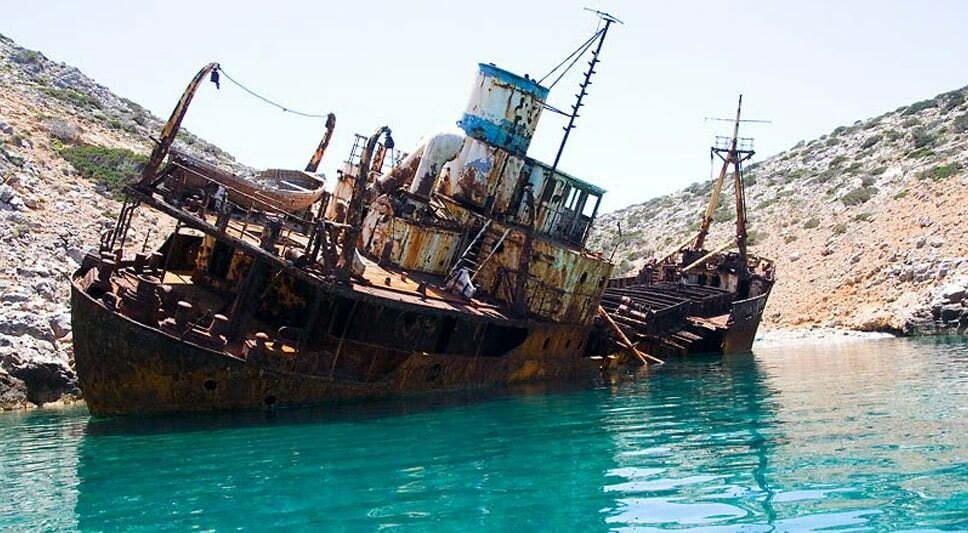 Doze navios naufragados, imagem do navio naufragado olympia