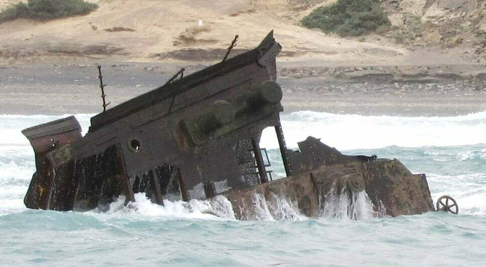 Doze navios naufragados, imagem do navio naufragado ssamerica2
