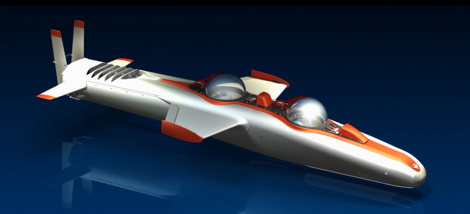 Submarino procura música das baleias, imagem do Deepflight, espécie de submarino.