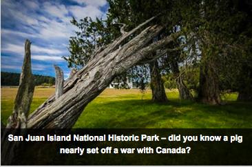 Áreas marinhas protegidas nos USA, imagem do San Juan National Historic Park, nos USA