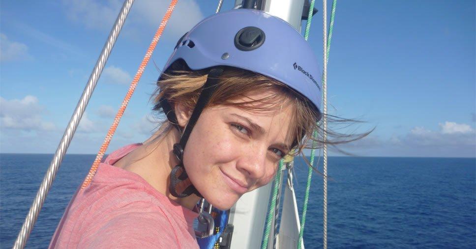 Jessica Watson em sua volta ao mundo