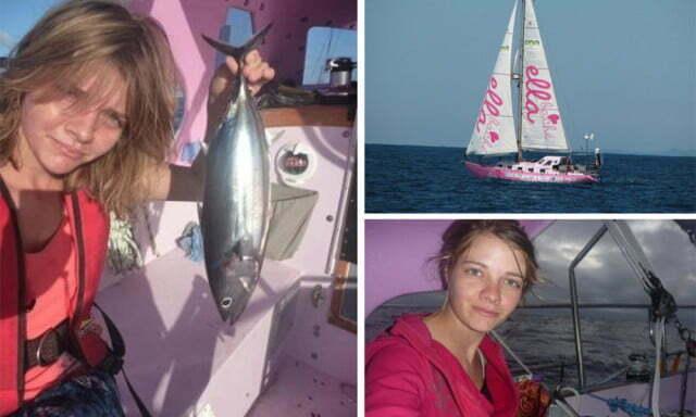Garota de 16 anos faz volta ao mundo, imagem