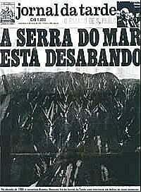 Capa do Jornal da Trade A Serra do Mar Está Desabando.