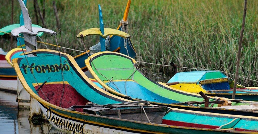 popas-de-canoas-de-bordadura-tromomô-APA E ESEC de Guaraqueçaba