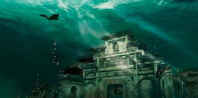 Cidade submersa na China, imagem de Cidade submersa na China