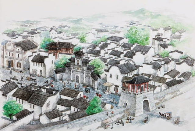Cidade submersa na China