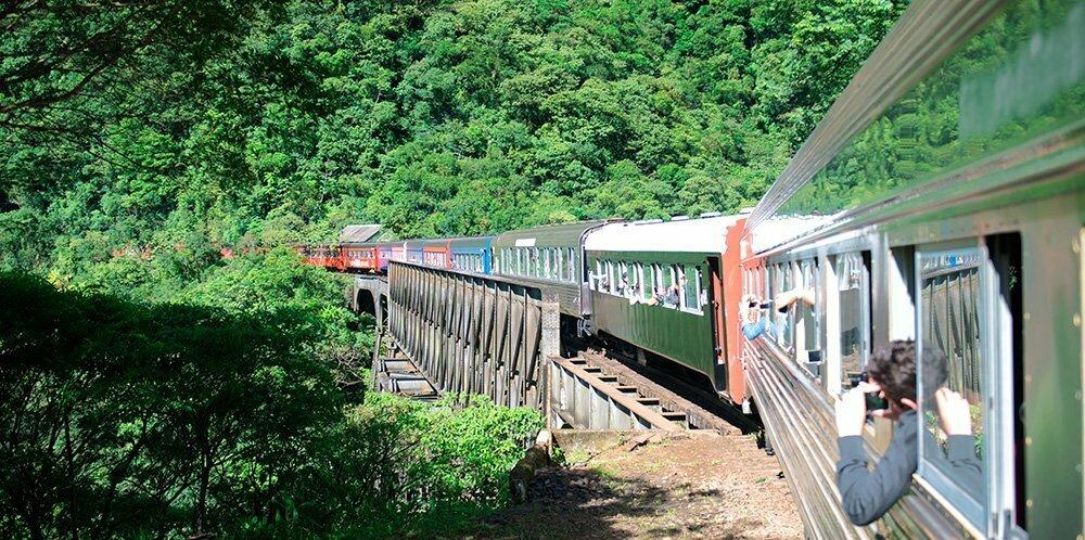 trem na serra da graciosa,APA E ESEC de Guaraqueçaba