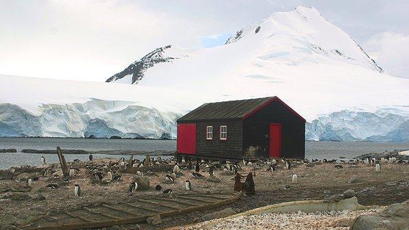 Turismo na Antártica pode ser uma ameaça, imagem de refúgio na antártica