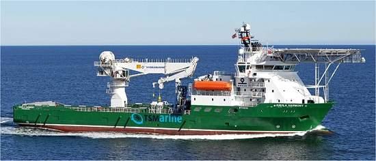 imagem navio preparado para mineração no fundo do mar