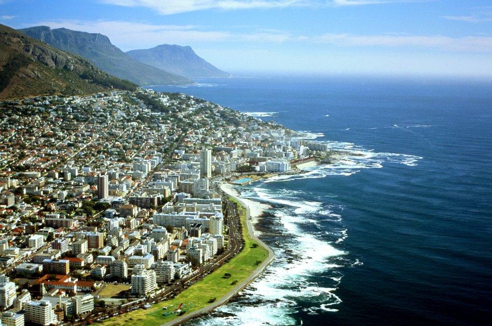 linhas costeiras, image da Cidade do Cabo, África do Sul