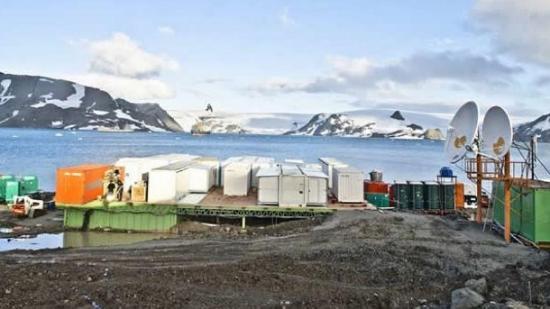 imagem estação na antártica