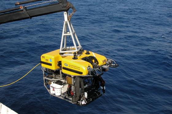 imagem robo para prospecção de minérios no fundo do mar