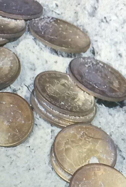 Tesouro encontrado, imagem de moedas em Tesouro valioso encontrado em Naufrágio