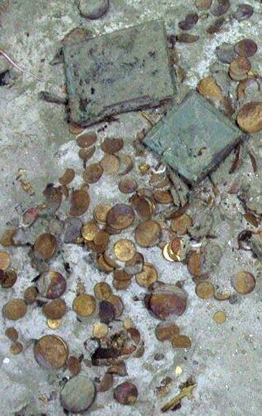 Tesouro encontrado, imagem de parte de Tesouro valioso encontrado em Naufrágio