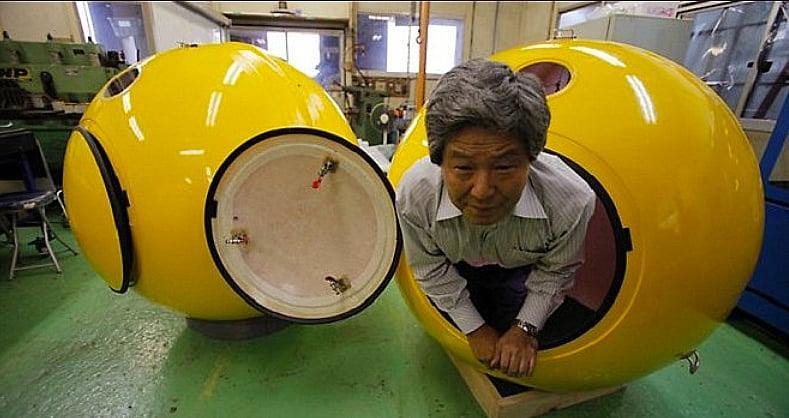 cápsula que salva de tsunami, imagem de cápsula que salva de tsunami